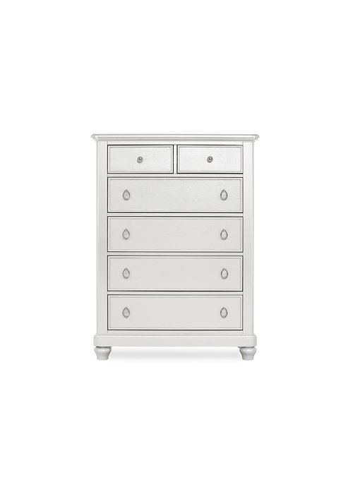 Evolur Baby Glam Tall Chest In Silver Pearl Shimmer