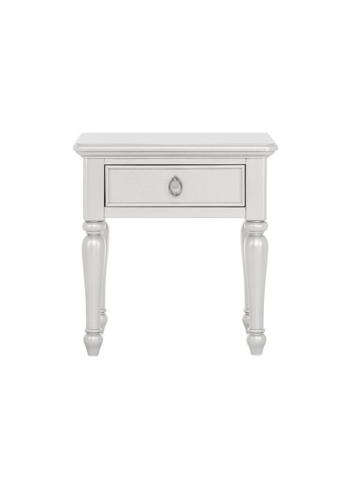 Evolur Baby Glam Night Stand In Silver Pearl Shimmer
