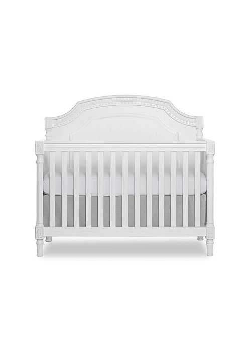 Evolur Baby Julienne 5-in-1 Convertible Crib In Brushed White  (Without Upholstery)