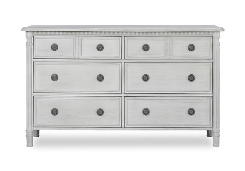 Evolur Baby Julienne Double Dresser In Antique Mist