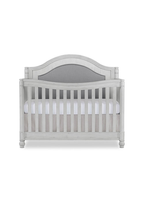 Evolur Baby Kendal 5-in-1 Convertible Crib In Antique Grey Mist