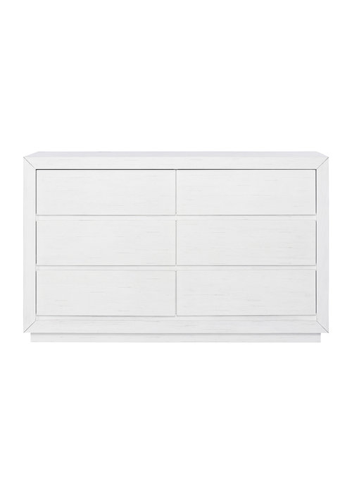 Evolur Baby Maddox Double Dresser In Weathered White
