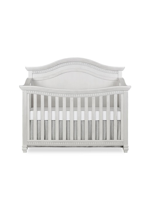 Evolur Baby Madison (Curved Top) 5-in-1 Convertible Crib In Antique Mist