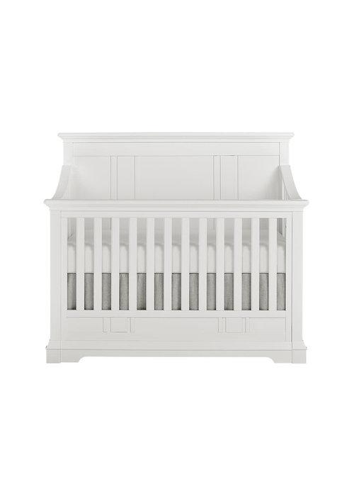 Evolur Baby Parker 5-in-1 Convertible Crib In Winter White/White