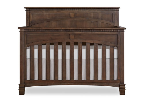 Evolur Baby Santa Fe 5-in-1 Convertible Crib In Antique Brown