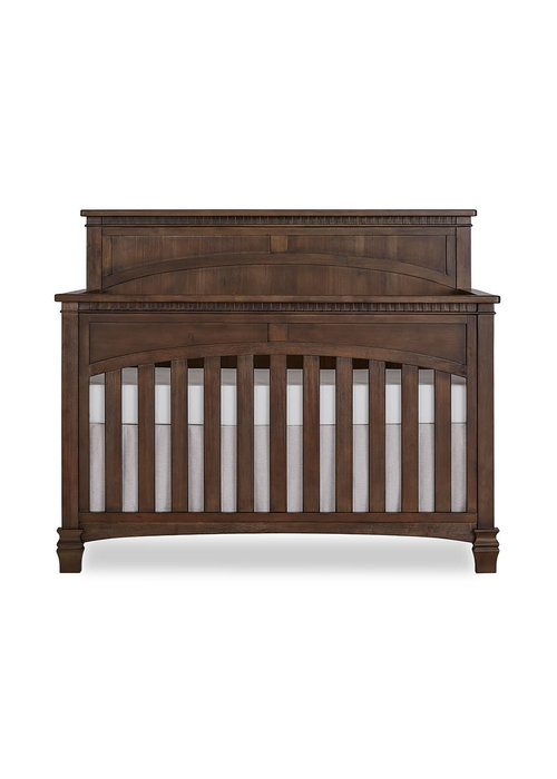 Evolur Baby Santa Fe 5-in-1 Convertible Crib In Antique Brown