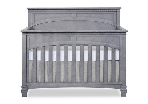 Evolur Baby Santa Fe 5-in-1 Convertible Crib In Storm Grey/Steel Gray