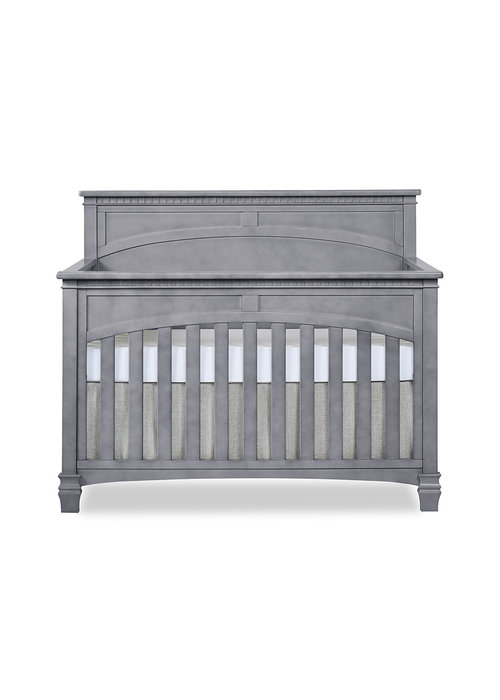 Evolur Baby Santa Fe 5-in-1 Convertible Crib In Storm Grey/Steel Gray