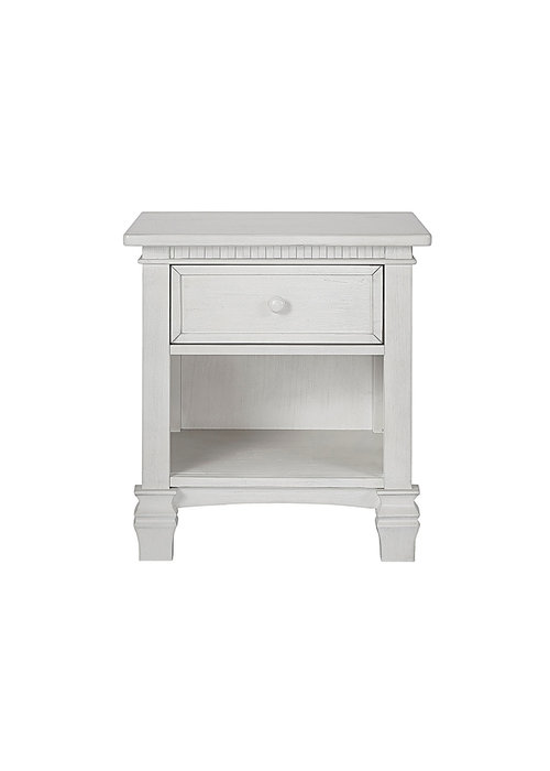 Evolur Baby Santa Fe Night Stand In Antique Mist