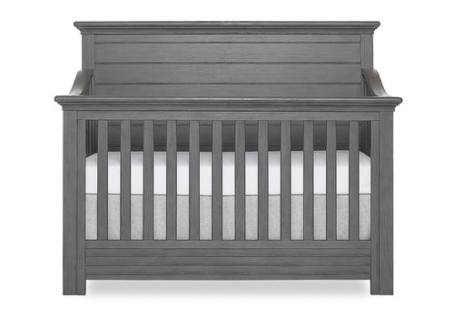 Evolur Baby Waverly 5-in-1 Convertible Crib In Rustic Grey