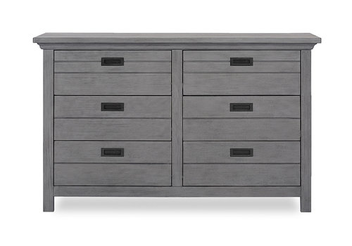 Evolur Baby Waverly Double Dresser In Rustic Grey