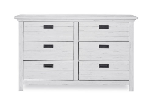 Evolur Baby Waverly Double Dresser In Weathered White
