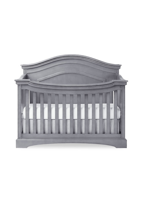 Evolur Baby Evolur Baby Windsor (Curved Top) 5-in-1 Convertible Crib In Storm Grey/Steel Grey