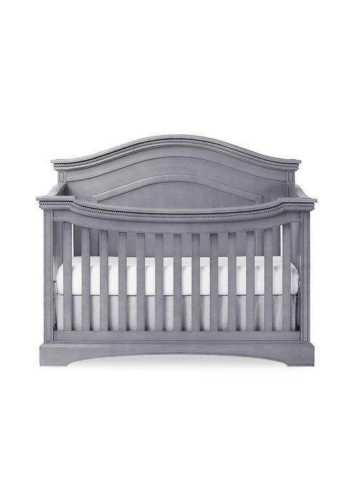Evolur Baby Windsor (Curved Top) 5-in-1 Convertible Crib In Storm Grey/Steel Grey