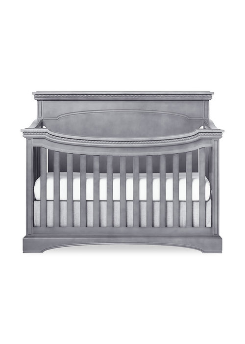 Evolur Baby Evolur Baby Windsor (Flat Top) 5-in-1 Convertible Crib In Storm Grey/Steel Grey
