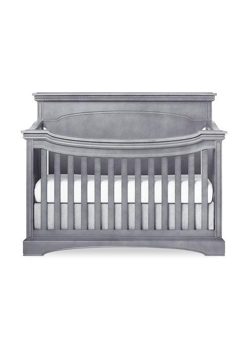 Evolur Baby Windsor (Flat Top) 5-in-1 Convertible Crib In Storm Grey/Steel Grey
