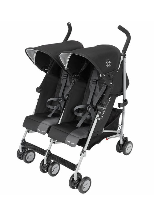 Maclaren Maclaren Twin Triumph Stroller In Black-Charcoal