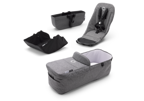 Bugaboo Bugaboo Donkey3 Style Set In Grey Melange (BOX 2)