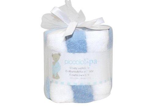 Piccolino Bambino 10 Pk Large Hemmed Washcloths Boy