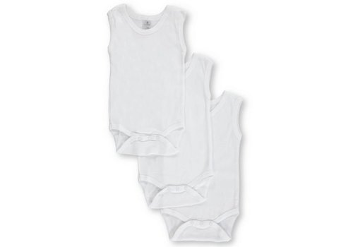 Big Oshi Big Oshi 3 Pc Body Suits Sleeveless 0-3 In White