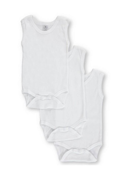 Big Oshi Big Oshi 3 Pc Body Suits Sleeveless 12-18 In White