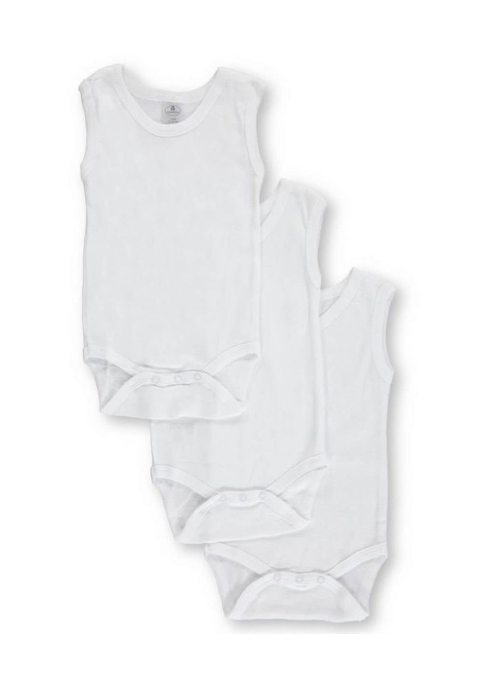 Big Oshi 3 Pc Body Suits Sleeveless 9-12 In White