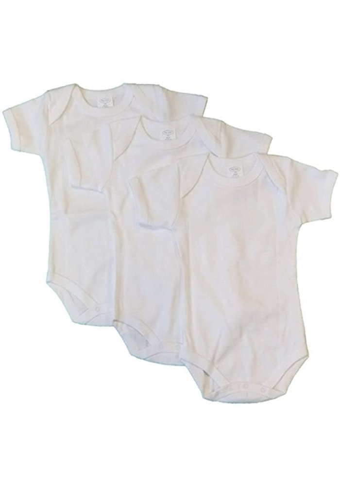 Big Oshi 3 Pc Body Suits Short Sleeve 0-3 In White