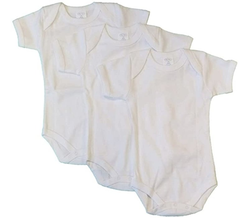 Big Oshi 3 Pc Body Suits Short Sleeve 12-18 In White