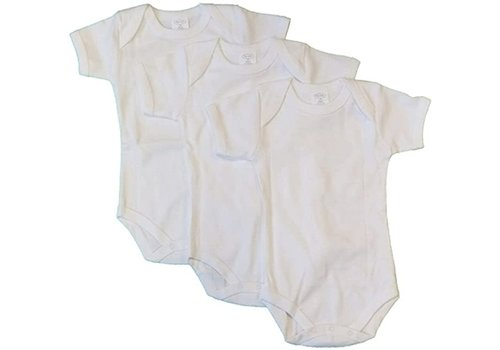 Big Oshi Big Oshi 3 Pc Body Suits Short Sleeve 3-6 In White