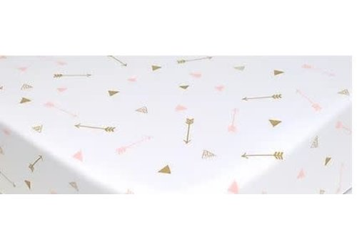 American Baby American Baby Percale Crib Sheet In Gold-Pink Arrows