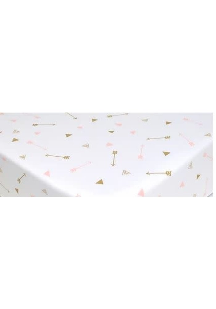 American Baby Changing Pad Cover Pad In Gold-Pink Arrows
