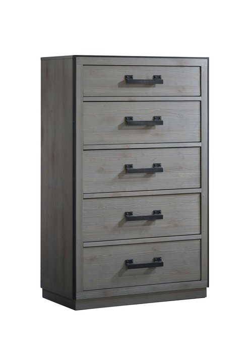 Natart Natart Sevilla 5 Drawer Dresser In Grey Chalet