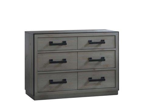 Natart Natart Sevilla Double Dresser In Grey Chalet