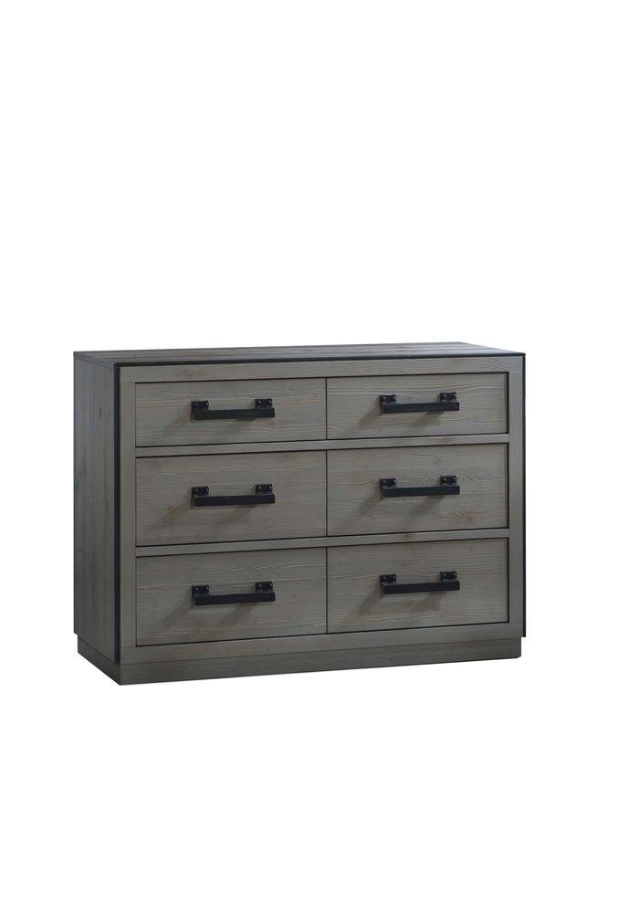Natart Sevilla Double Dresser In Grey Chalet