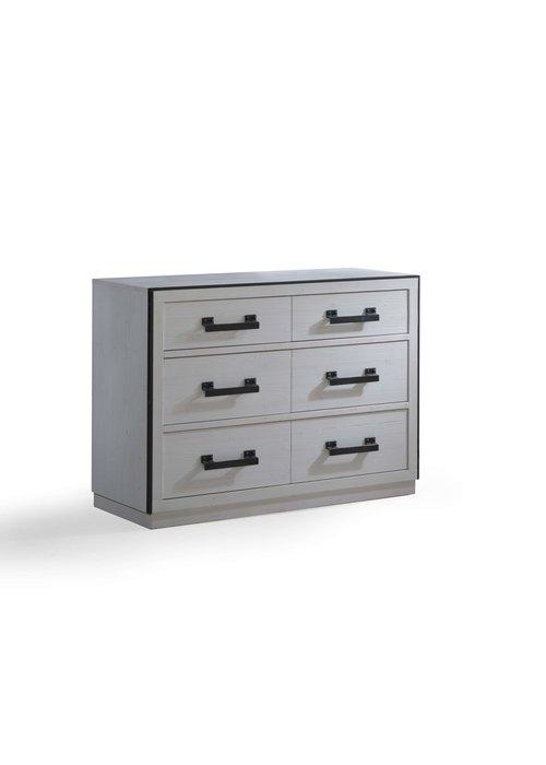 Natart Natart Sevilla Double Dresser In White Chalet