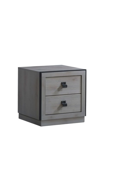 Natart Natart Sevilla Night Stand In Grey Chalet