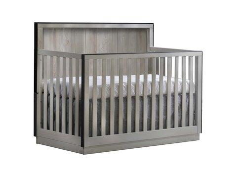 Natart Natart Valencia 5-in-1 Convertible Crib In Grey Chalet