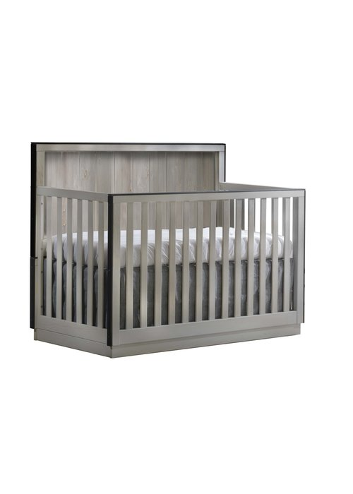 Natart Natart Valencia 5-in-1 Convertible Crib In Grey Chalet