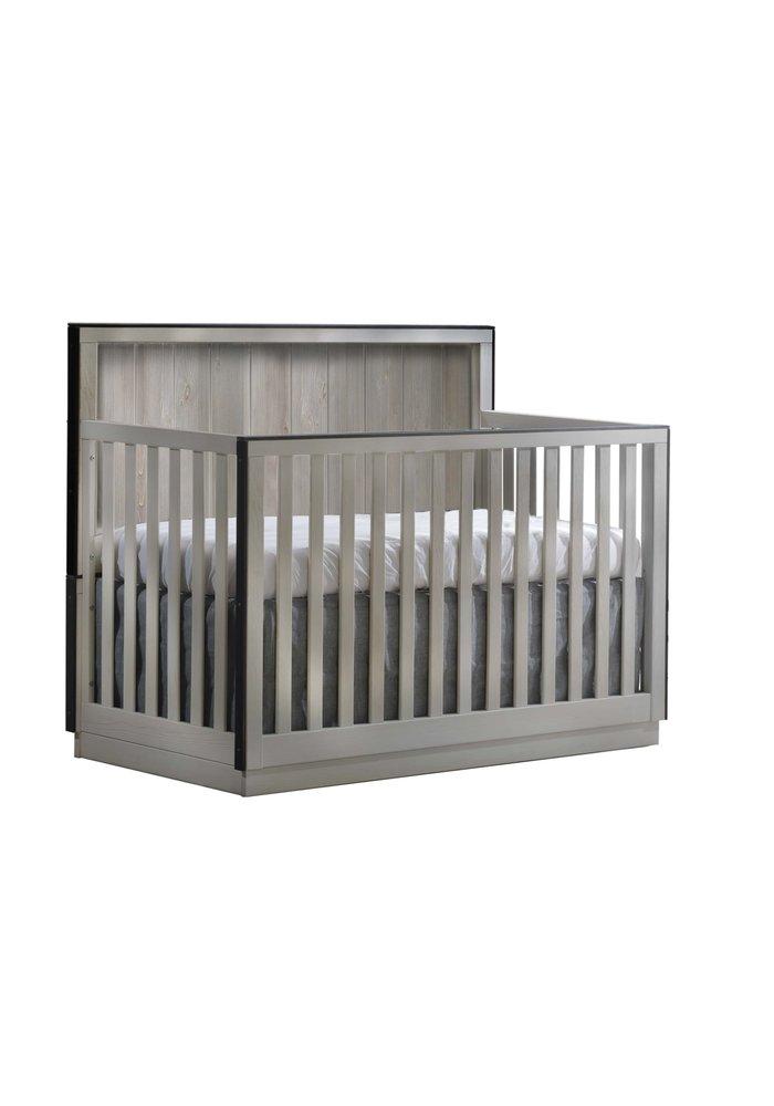 Natart Valencia 5-in-1 Convertible Crib In Grey Chalet