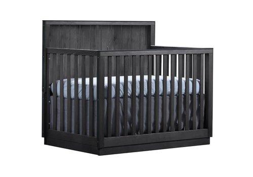 Natart Natart Valencia 5-in-1 Convertible Crib In Black Chalet