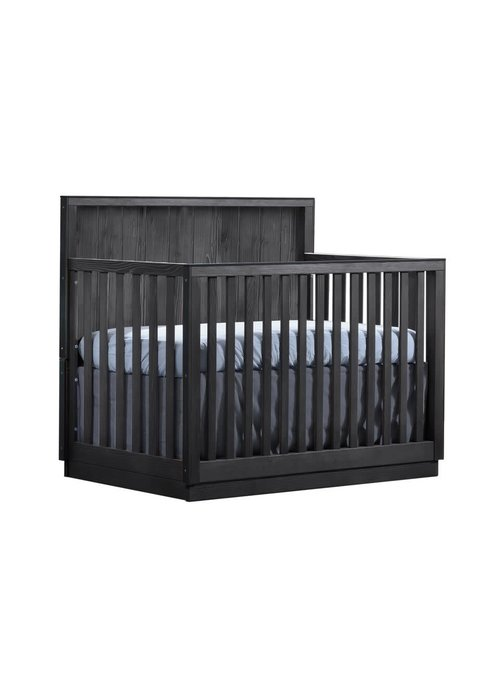 Natart Natart Valencia 5-in-1 Convertible Crib In Black Chalet