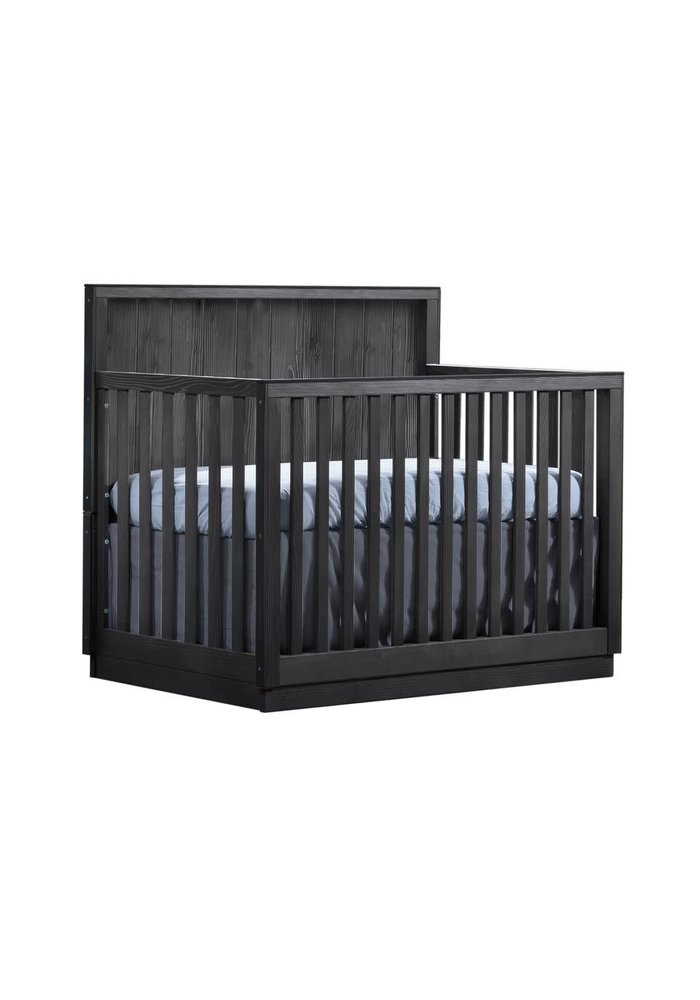 Natart Valencia 5-in-1 Convertible Crib In Black Chalet
