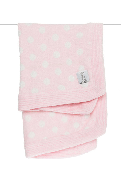 Little Giraffe Little Giraffe Dolce Dot Blanket In Pink