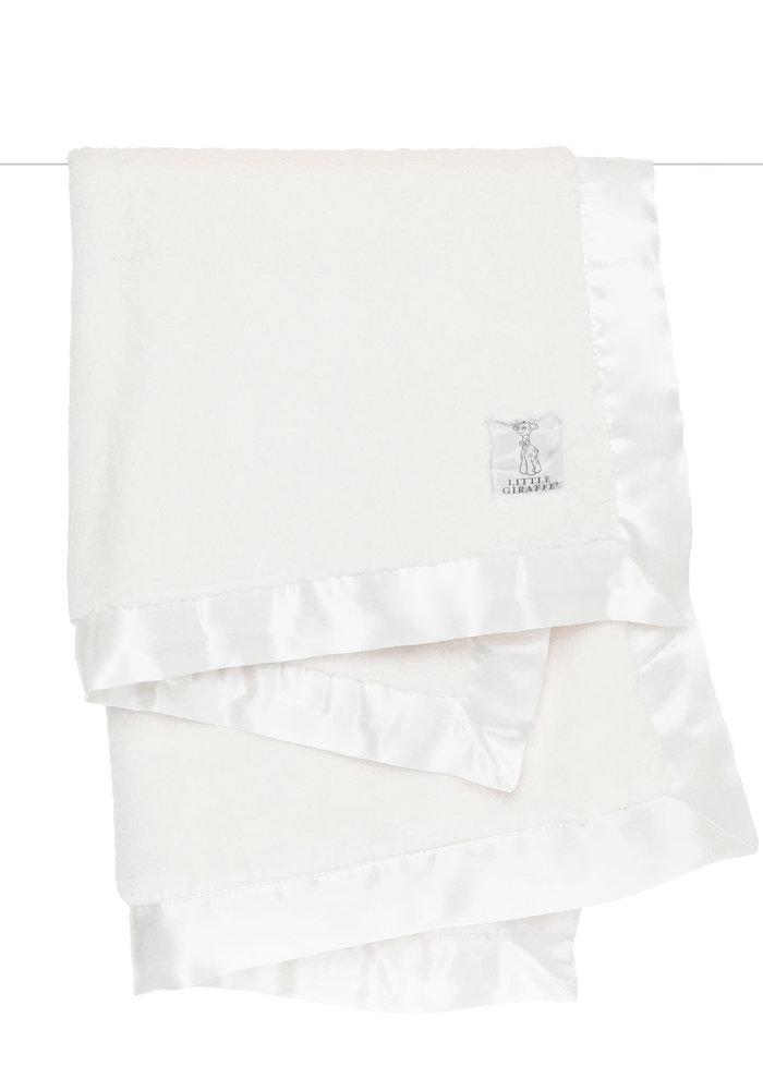 Little Giraffe Luxe Blanket In Cream