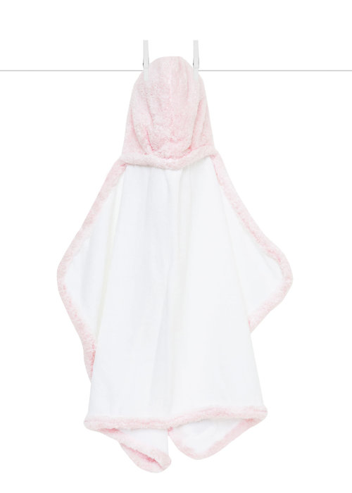 Little Giraffe Little Giraffe Chenille Towel Hooded Towel In Pink