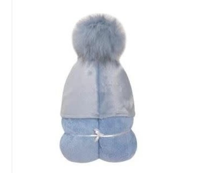 Winx + Blinx Hooded Towel In Pompom Blue