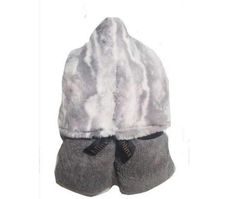 Winx + Blinx Hooded Towel In Marble Grey