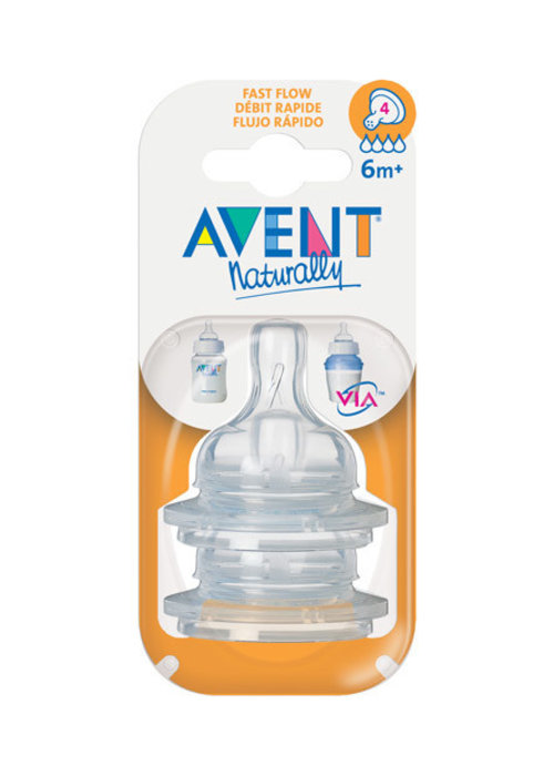 Avent Philips Avent Classic Fast Flow Nipple  2 In A Package #4