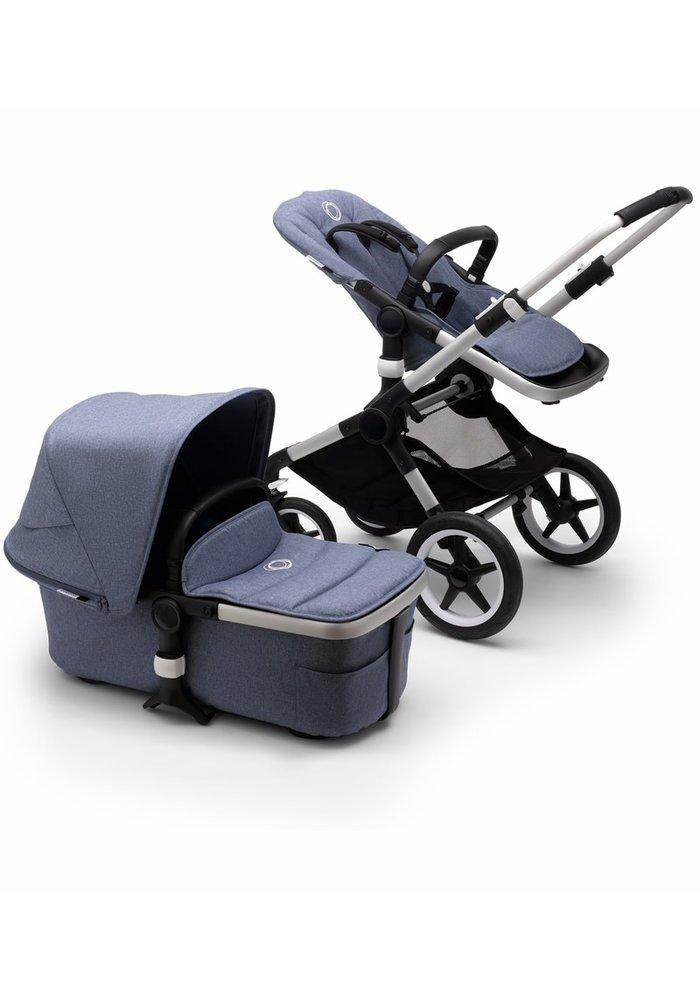 Bugaboo Fox2 Complete Stroller - Aluminum/Blue Melange/Blue Melange