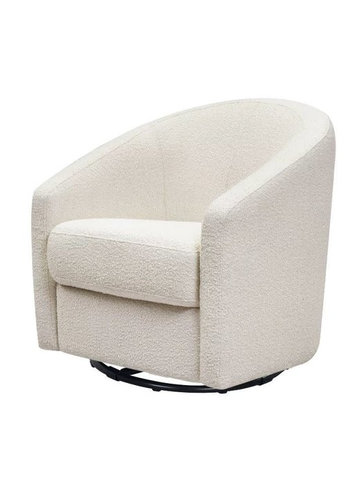 Baby Letto Baby Letto Madison Swivel Glider in White Boucle